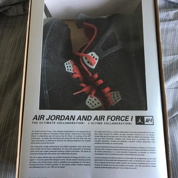 5ff5a32d2fe Jordan Shoes   Nike Air 4 X Air Force 1 Bred Aj4 Premier   Poshmark